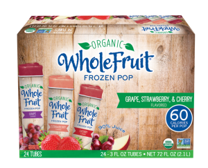 Organic and Non-GMO Frozen Juice tubes